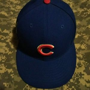 2016 World Series Chicago Cubs on field cap